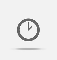 clock flat design icon with shadow vector image