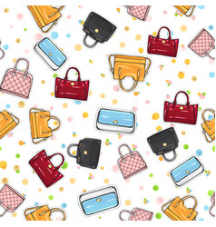 collection women handbags on endless texture vector image