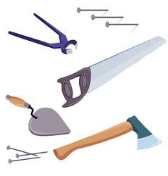 construction repair tools vector image