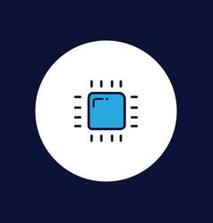 cpu icon sign symbol vector image