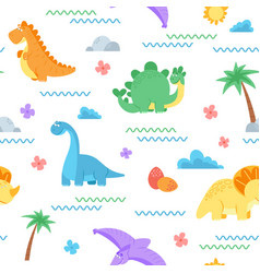 cute dinosaur pattern dino surface dinosaurs vector image