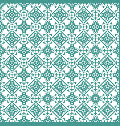 Cyan damask seamless pattern background vector