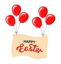 Easter balloon banner vector