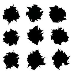 Exploded icon black sharp silhouette collection vector