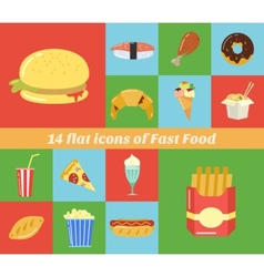 fast food frame for web menu cafe and restaurant vector image