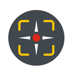 Fighter target icon flat style vector