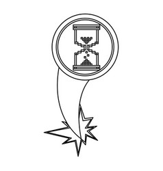 figure hourglass cursor with hole icon vector image