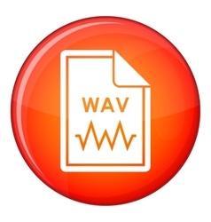File WAV icon flat style vector