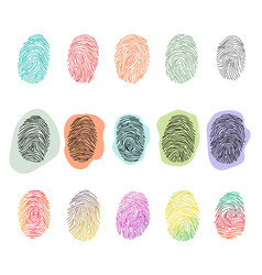 fingerprint fingerprinting identity with vector image