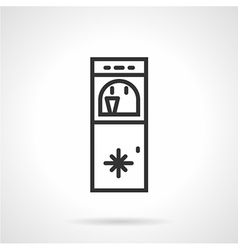 Floor water cooler line icon vector