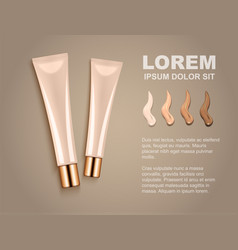 for advertising cosmetic cream vector image