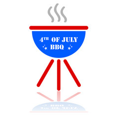 fourth july barbecue vector image