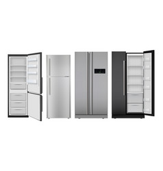fridge realistic open and closed home vector image