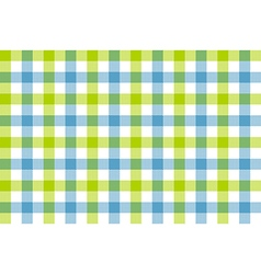 Green blue check fabric texture background vector