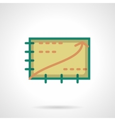 Growth planning flat color icon vector image