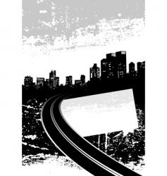 Grunge city vector