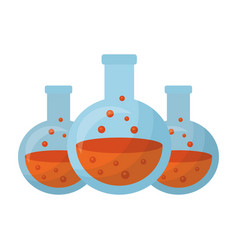 halloween poisons set isolated icon vector image