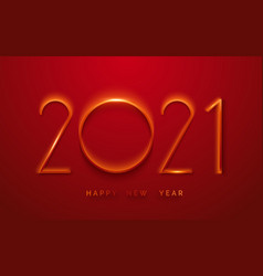 happy new year 2021 minimalist greeting card vector image