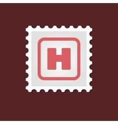 Hospital sign medical stamp vector