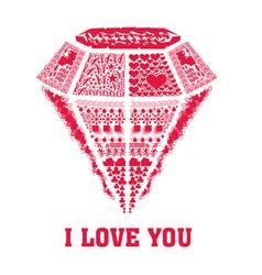 I LOVE YOU valentine vector
