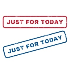Just For Today Rubber Stamps vector