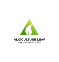 Leaf triangle template vector