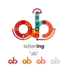 Linear business logo letter vector