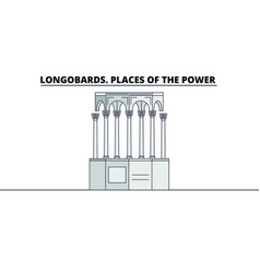 longobards places of the power line trave vector image