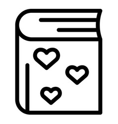 Love affection book icon outline style vector