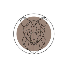 low poly bear vector image