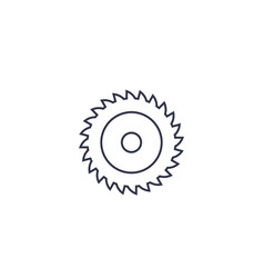 Mill cutter sawmill line icon vector