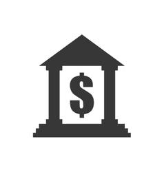 Money bank building financial icon graphic vector