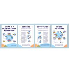 multi-channel marketing brochure template vector image