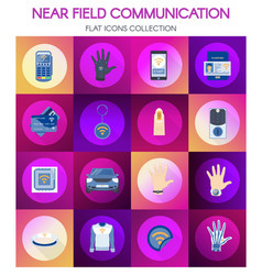Near field communication online payment banner vector