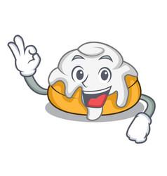 Okay cinnamon roll character cartoon vector