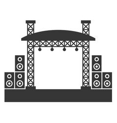 Outdoor concert stage constructions with sound vector