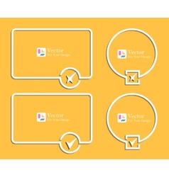 Outline banners with check marks confirmation vector image