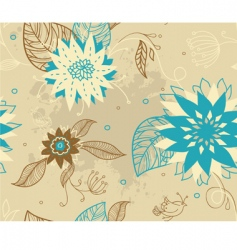 pattern florals vector image