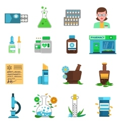 Pharmacy Icons Set vector