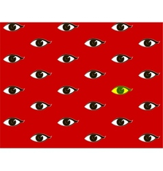 Red background with eyes vector