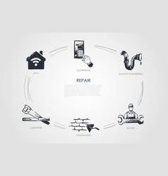 repair - doorphone sanitary engineering builder vector image