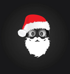 santa claus with chrismas hat vector image