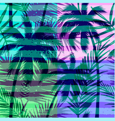 seamless exotic pattern with tropical palm vector image