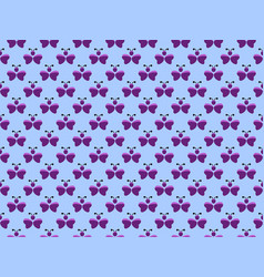 seamless pattern abstract butterfly purple on a vector image