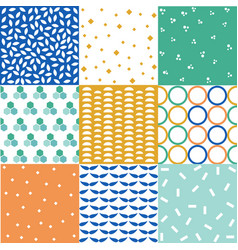 seamless patterns with fabric textures vector image