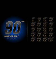 Set anniversary logotype premium anniversary vector