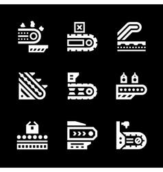Set icons conveyor vector
