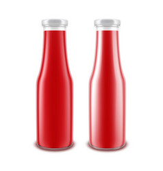 set of blank glass glossy red tomato vector image