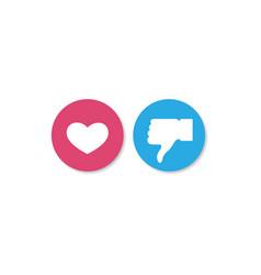 Social media like and dislike background vector