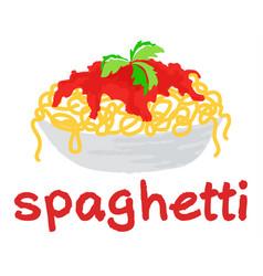 Spaghetti sticker vector